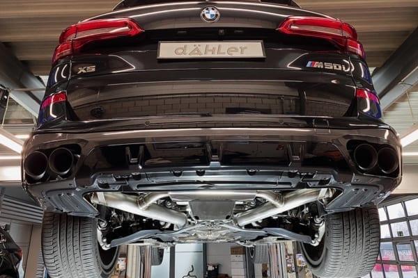 BMW X5 M50i exhaust