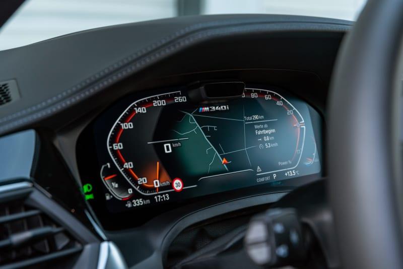 BMW M340i speedometer