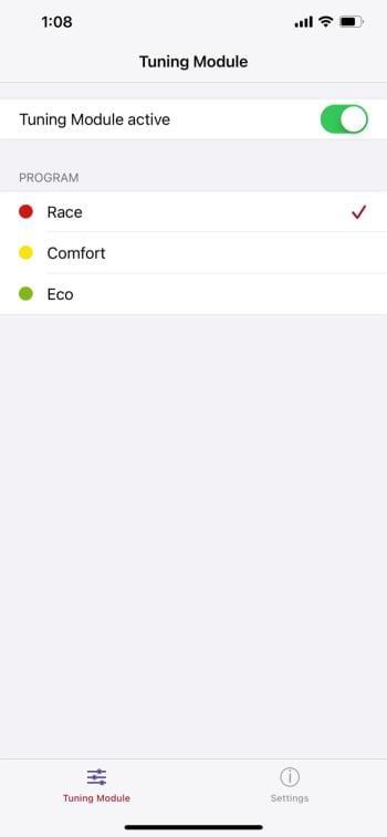 dAHLer mobile app settings
